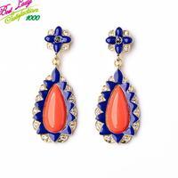 New Arrival European Fashion Statement Flower Women Good Quality Stud Earring Hotsale Wholesale VIntage Jewelry 9833