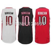 #10 Demar DeRozan Jersey, REV 30 Basketball Jersey Quality Embroidery Free Shipping