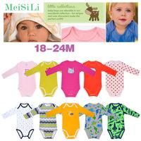 5Pcs/Lot MeiSiLi Unisex Newborn Baby Boy & Girls' Spring & Autumn Cotton Long Sleeve Romper Clothing