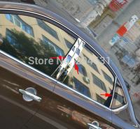 High quality stainless steel center pillar window trim 6pcs for Bluebird Sylphy 2012 2013 2014