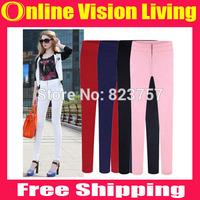 Hi-Q 2015 Fashion Leggings Candy Colors slim Pants Pencil Trousers boot pants Good Look Women Elastic Pants Plus Size S-3XLA0710