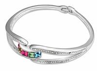 Multicolor Crystal Wedding Bridal Bracelet Bangle Fashion Jewelry Unique For You