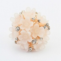 2015 New arrival fashion jewelry candy color coral crystal flower  JZ-059