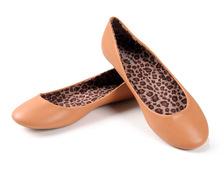 2015 NEW ARRIVAL Brand Solid and Leopard Inside Fashion Women shoes for Lady flats & Light brown(China (Mainland))