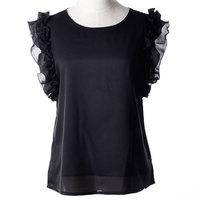 1 piece Brand New Fashion Casual Women Blouses Vintage style Polka Chiffon Blouses short Sleeve Lapel Shirts 7 colour