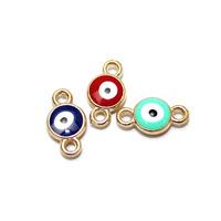 New arrived!!! 100pcs/lot Turkish blue evil eye charms for bracelets DIY  charms enamel jewelry