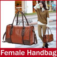 2015 New Brand Fashion Bowling Women Handbag Classic Ladies Zipper PU Leather Casual Hand Totes Bag For Female