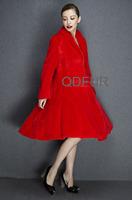 2015 Luxury Genuine Whole-Hide Mink Fur Coat Jacket Winter Women Fur Outerwear With Belt Fur Coats Parka QD80198