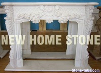 Fireplace surround mantels with floral swag on front and legs white marble stone fireplace mantels shelves ideas