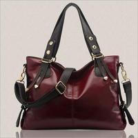 2014 fashion women PU leather handbag Vintage solid shoulder bag messenger bags causal bolsas femininas Free Shipping WXT338