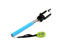 Free shipping Self-rod Portable Handheld selfie stick Monopod Stand Holder + Wireless Bluetooth Romote Control Self timer