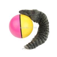 J34 Free Shipping Beaver Weasel Rolling Motor Ball Pet Cat Dog Kids Chaser Jumping Fun Moving Toy
