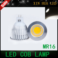 High quality  high power MR16  12V 6w 9w 12w led Dimmable cob spotlight lamp bulb warm cool white GU5.3 220V
