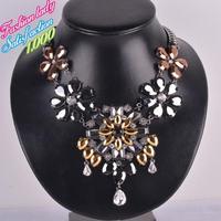 Luxury Fashion Statement vintage choker elegant crystal pendant necklaces high quality new arrival bib collar necklace 4517