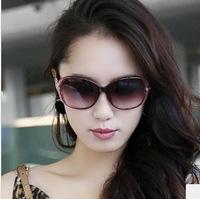 2014 all-match polarized glasses female sunglasses big box women's gradient sunglasses fashion brief