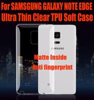 10pc/lot newest 0.6mm Ultra Thin Slim matte inside Clear TPU Soft Case for SAMSGUNG GALAXY NOTE EDGE NO: NE01