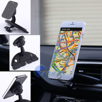 Universal Smart Mobile Mount Car Stand Phone Holder Phone Magnet Car CD Slot Dock Dash Holder Mount Stand GPS MP4 5 & Tablet