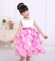 The new girl's dress. girl  outdoor leisure dress dress baby tutu wavy. Two colors 100-140