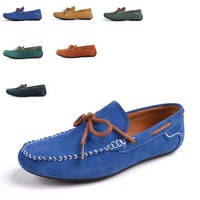 Classic Fashion Comfortable Shoes Online Men Suede Flats Gommini Driving Sapatos Size 38 to 43 Blue Brown Green Yellow