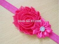 Free Shipping 2015 New Fashion Newborn Baby Children Toddler Infant Girl Elastic Silk Flower Pearl Headband Clip Color Hair Band