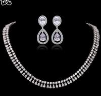 High Quality Brand AAA Zircon Luxury Jewelry Set Women, Shining 3A Zircon  Prom Jewelry Set