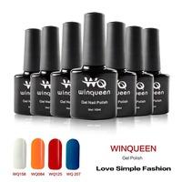 2015 Direct Selling 6 Pcs/l Ot Shellac Winqueen (4 Colors+1 Base Coat+1 Top Coat) Nail Gel Uv Polish Soak Off