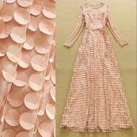 2 Color S-XL Ladies Boutique Sexy Lace Sppliques Ultra Long Dress Evening Banquet Dress 2015 Europe Style Dress S1222