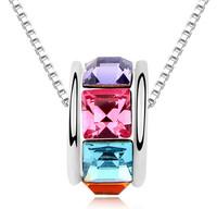 Brand Austrian Crystal Pendant Necklace Designer Jewelry