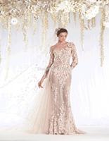 unique designer Vintage Appliqued long sleeve turkish wedding dresses With Bridal Gown for winter 2015 RR-061