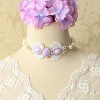 Wholesale Handmade design lace necklace & pendant women accessories Gothic jewelry choker necklace false collar (JL-111)
