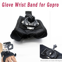 Adjustable Glove Style Wrist Band Mount Belt Strap Accessories For GoPro 1 2 3 3+ HD Camera DV Camcorder