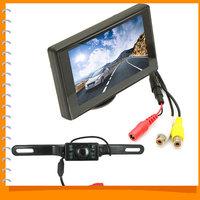4.3 Inch TFT LCD Display Car Rear View Monitor Auto Car Parking Reverse Monitor + 420TVL Night Vision Car Rearview Backup Camera