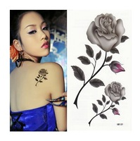 women sexyTemporary Tattoo  waterproof Colorful butterfly Tattoo paste COSPLAY stickers KC045  roses flower