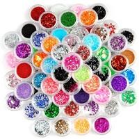 2015New! 80 Colors Nail Art Rhinestone Glitter Powder Decoration Dust For UV GEL Polish Acrylic Tips