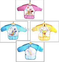 Fashion Hot Cute Cartoon Children Baby Waterproof Long Sleeve Bib Apron for baby self feeding