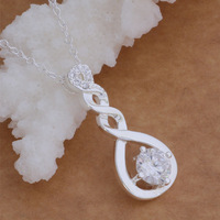 Women Fashion Pendant Necklace Shine Crystal Sliver Plated Pendant Special Design Jewelry New Trendy Accessories AN058