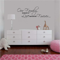 Family rules quotes home decor wall art decorative wall decal sticker