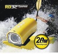 DHL Free Shipping 5MP Sensor 1280x720P HD Hot Sports Video Camera Helmet Camera 20M UnderWater  with 850Mah Battery,TF Card Slot
