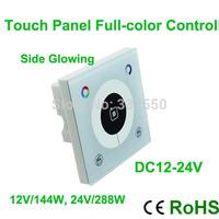 Hot!!!DC12-24V Touch Panel RGB Controller 3 channel 4A/CH 144W/12V 288W/24V control rgb led strip led lamp led panel light