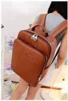 HOT !! Free Shipping Preppy Pu Leather Backpack Women Travel Bag School Bag Mochila Women Computer Bag Casual Shoulder Bag  641e