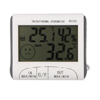 Влажность температура цифровой термометр гигрометр метр вт / проводной внешний датчик ...