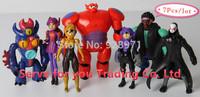7PCS/SET,2015New Arrive Big Hero 6 Baymax Kids Pelicula Role Action Figures Toys For Boys,