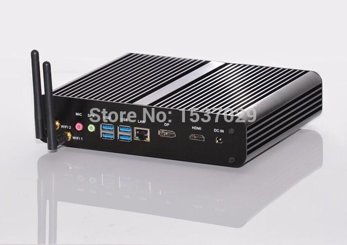 HTPC Portable Computer Fanless System Mini PC with Intel Core i7 4500U/4550U/4650U CPU 16GB DDR3L RAM 128G SSD 4K DP(China (Mainland))