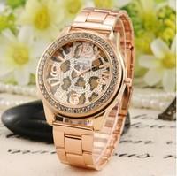 Free Shipping Classic  Kanima Watches women full steel watch 2014  Rhinestones Leopard quartz watch Men Women Watches Fashion