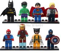 10lots=80pcs SY180 Action Figures Super heros building block set iron man captain america batman hulk thor Plastic Compatible