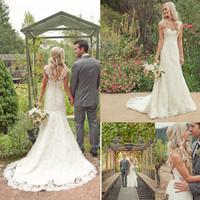 romantic bridal dress special dress marriage sexy open back classic wedding dress mermaid beach elegant lace bridal gown ws001