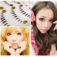 Hot Sale! 10 Pairs Natural Lower Eye Lashes Under Bottom Fake False Eyelashes Clear Band Makeup Long Handmade Free Shipping