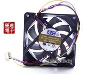 de07015b12l AVC 7CM cm double ball 7015 mute 4 line PWM temperature CPU cooling fan 12V 0.3A