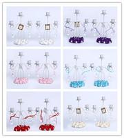GAGA ! 3-light iron 23*20 (cm) handmade metal  wedding Candlestick 6 colour for choose  10 pcs/lot , XA100