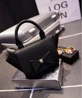 2015 Fashion bag lychee pattern trapeze design women's leather handbag  one shoulder small bags messenger bags l1482